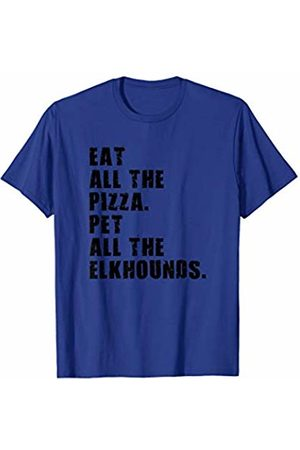 Swesly Dog Eat All The Pizza Pet All The Elkhounds ADB045i T-Shirt