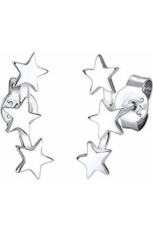 Elli Women's 925 Sterling Xilion Cut Stud Earrings