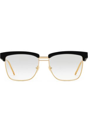 Gucci Square metal and acetate glasses