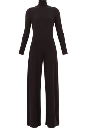 Norma Kamali Women Bootcut - High-neck Jersey Wide-leg Jumpsuit - Womens