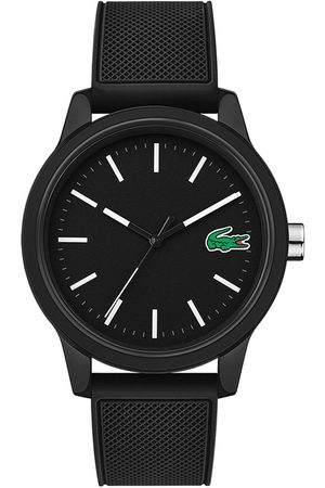 Lacoste 12.12 Black Dial Black Fabric Strap Mens Watch