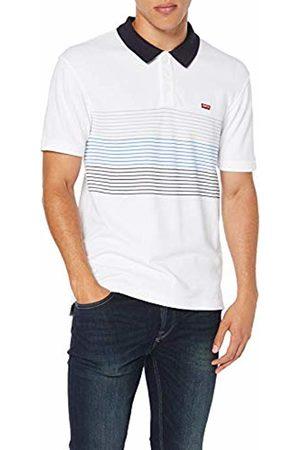 Levi's Men's Housemark Polo Shirt, (Storage Stripe /Gray Violet/Bayside Terrace/Nightwatch 0108)