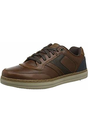 Skechers Men's Heston Trainers, (Dark Leather Dkbr)