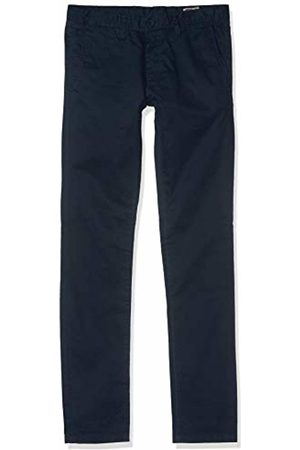 Teddy Smith Boy's CHINO BOY STRET Trousers, - Bleu (Us Navy)