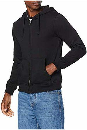 Build Your Brand Men's Heavy Zip Hoody Jacket, 00007