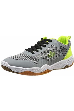 LICO Men's Aircraft Multisport Indoor Shoes, Grau/Schwarz/Lemon