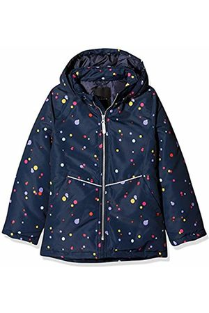 Name it Girl's Nkfmaxi Jacket Multi Dot, Dark Sapphire