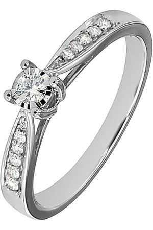 Love Diamond 9Ct White Gold 19 Point Diamond Engagement Ring