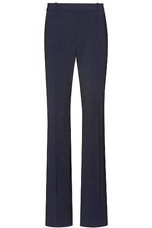 HUGO BOSS Women Formal Trousers - Regular-fit trousers in lightly worsted stretch virgin wool