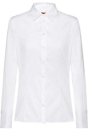 HUGO BOSS Women Blouses - Slim-fit blouse in easy-iron poplin