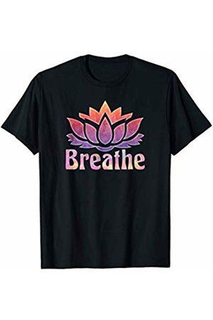 Yoga Life Love T-shirts Breathe Buddha Lotus Flower Mindfulness Yogi Yoga T-Shirt