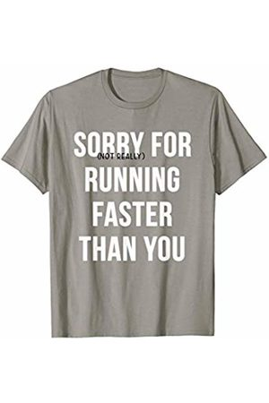 RiverPort Cross Country XC Runner Running Humor Sorry Not Really for Running Faster Than You T-Shirt