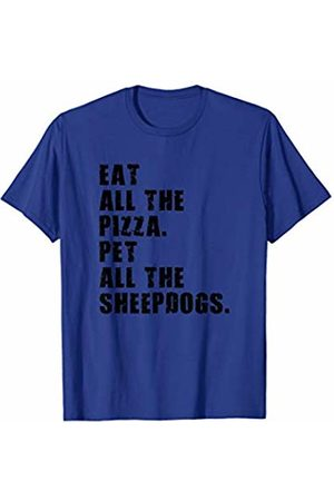 Swesly Dog Eat All The Pizza Pet All The Sheepdogs ADB115i T-Shirt