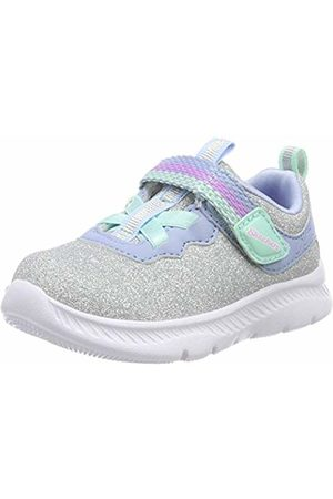 Skechers Girls Trainers - Girls' Comfy Flex 2.0 Trainers, ( Sparkle Mesh/Lt. Trim Sllb)