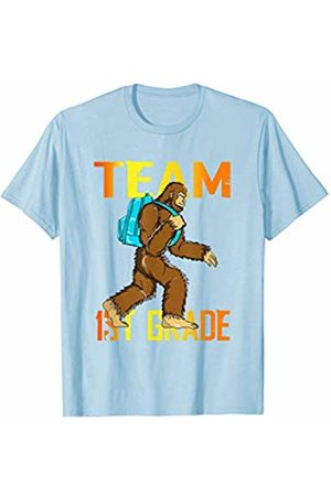 Back To School Apparel by BUBL TEES Team 1st Grade Bigfoot Sasquach Back To School T-Shirt