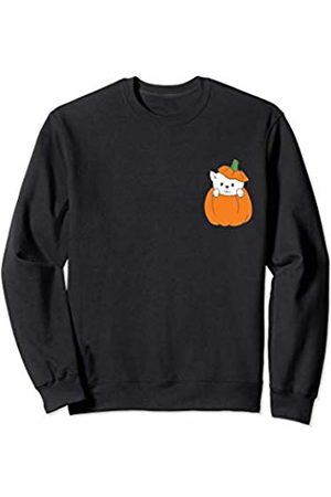 Wicked Wardrobe Adorable Halloween Cat Shirt Cute Pocket Pumpkin Kid Toddler Sweatshirt