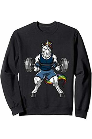 Cute Magical Unicorn Shirts Unicorn Fitness Gym Workout Bodybuilding Training Men Boys Sweatshirt