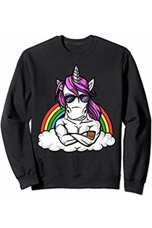 Cute Magical Unicorn Shirts Unicorn Fitness Gym Workout Bodybuilding Rainbow Men Boys Sweatshirt