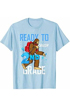 Back To School Apparel by BUBL TEES Ready To Crush 2nd Grade Bigfoot Sasquach Back To School T-Shirt