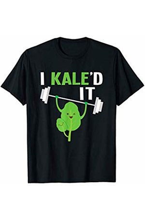 Health and Wellness Apparel Company I Kaled It Funny Weightlifting Kale Gym Work Out Pun T-Shirt