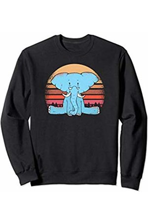 Baby elephant cute t-shirts Baby elephant with glasses - Fun Graphic Sweatshirt