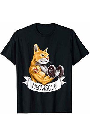 c0y0te7 Meowscle Workout Cat Pun T-Shirt