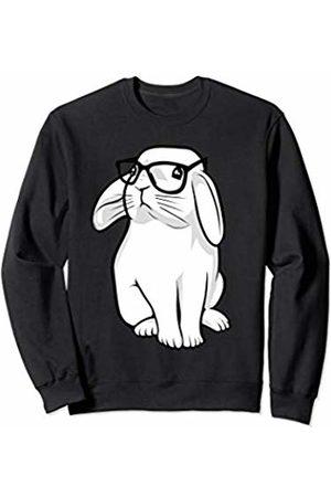Cute Rabbit Lover Shirts Nerdy Rabbit Geek Bunny With Glasses Kids Girls Boys Sweatshirt