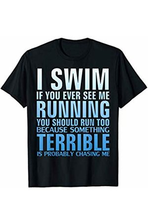 Swim Loves Shirt Gift I Swim If You Ever See Me Running T-Shirt Funny Swimmer Gift T-Shirt