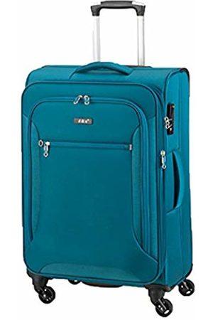D & N Travel Line 6404 Suitcase 68 cm (Turquoise) - 6464-16