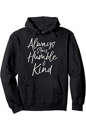 P37 Design Studio Jesus Shirts Cute Christian Gift for Women Always Stay Humble & Kind Pullover Hoodie