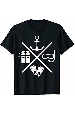 Scuba Diving Is Awesome! Scuba Diving Anchor Goggles Oxygen Tank X Design Gift T-Shirt