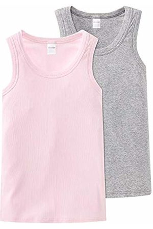 Schiesser Girls' Long Life Cotton 2Pack Tank Tops Vest
