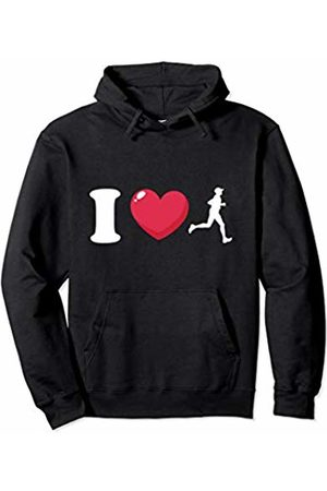 Bowes Fitness Men Hoodies & Sweatshirts - I Love Running Male Runner Pullover Hoodie