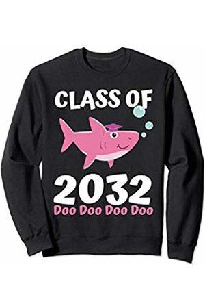 Back To School First day of School Shirts Apparel Class of 2032 Shark Doo Doo Doo Shirt Girls Grow With Me Sweatshirt