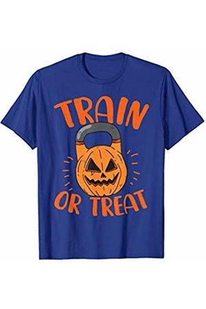 Workout Fitness Family Store Pumpkin Kettlebell Halloween Trick Or Treat Gym Class T-Shirt