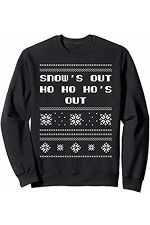 BoredKoalas Snows Out Hos Out Ugly Christmas Adult Gift Sweatshirt