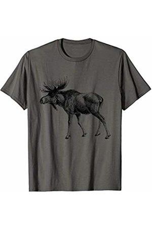 The New Antique Vintage Moose Print T-Shirt