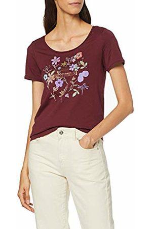 Esprit Women's 089ee1k025 T-Shirt, Garnet 620