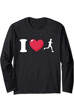 Bowes Fitness I Love Running Male Runner Long Sleeve T-Shirt