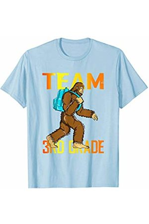 Back To School Apparel by BUBL TEES Team 3rd Grade Bigfoot Sasquach Back To School T-Shirt