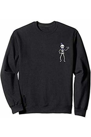 Wicked Wardrobe The Waving Skeleton Shirt Halloween Pocket Cute Kid Toddler Sweatshirt