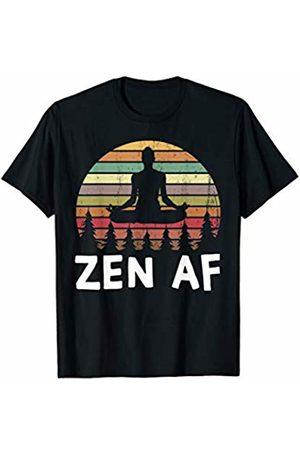 Moxio - Zen AF Funny Yoga Mediation Workout Zen AF Vintage Yoga Mediation Pose Funny Namaste Buddhist T-Shirt