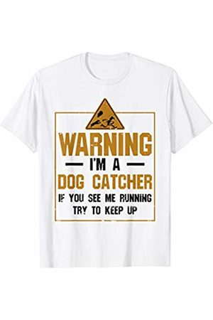 Animal Control Officer Apparel Warning Dog Catcher If You See Me Running T-Shirt