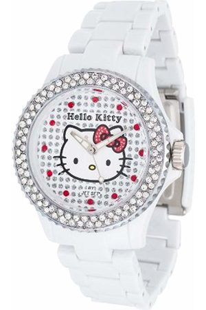 Hello Kitty Girl's Watch with Nichinan Stones and Plastic Strap HK146S-041