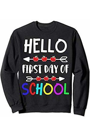 Hello First Day of School TShirt Hello First Day of School Shirt Funny Teacher Or Kids Gift Sweatshirt