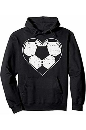 BoredKoalas Funny Valentines Day Love Gifts Soccer Ball Heart Sport Football Player Gift Lover Boy Pullover Hoodie