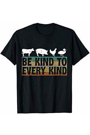 BBP Designs Funny Vegan Be Kind to Every Kind Vegan Shirt Vegetarian T-Shirt