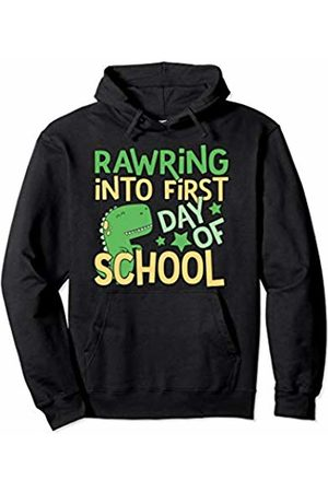 Merchrox Kids Happy First Day Of School Rawring Dinosaur Trex Teacher Pullover Hoodie