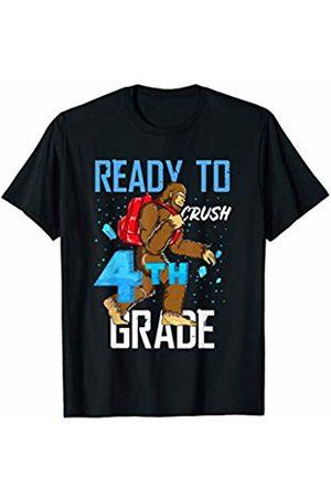 Back To School Apparel by BUBL TEES Ready To Crush 4th Grade Bigfoot Sasquach Back To School T-Shirt