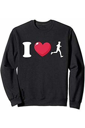 Bowes Fitness I Love Running Male Runner Sweatshirt